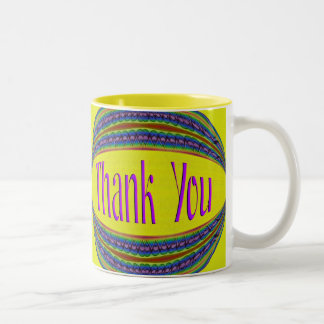 Colorful Thank You Two-Tone Coffee Mug