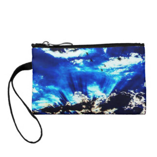 Colorful The Night Comes Key Coin Clutch Coin Wallet