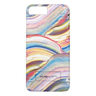 Colorful Thick Paint Brush Strokes iPhone 8 Plus/7 Plus Case