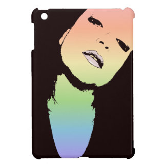 Colorful Thoughts Woman's Face iPad Mini Cover