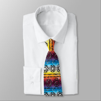 Colorful Tie Dye Batik Design Necktie