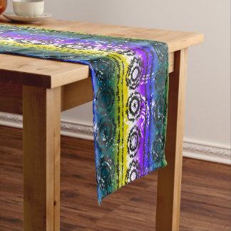 Colorful Tie Dye Batik Design Table Runner