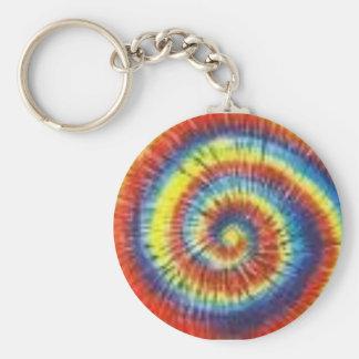 Colorful Tie Dye Key Ring