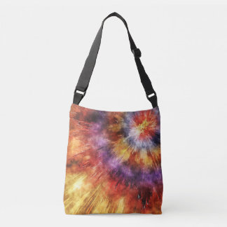 Colorful Tie Dye Rings Crossbody Bag