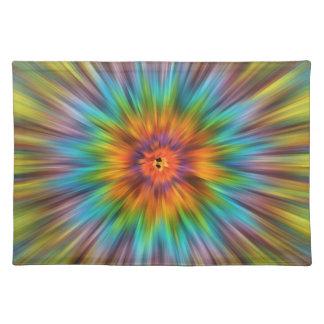 Colorful Tie Dye Starburst Placemat