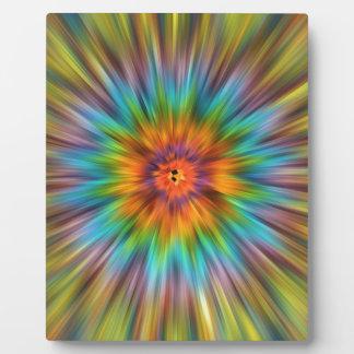 Colorful Tie Dye Starburst Plaque