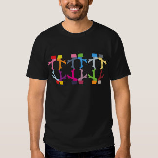 Colorful tights t-shirt