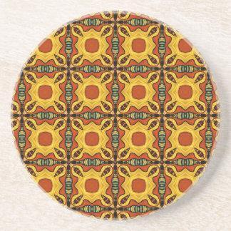 Colorful Tiles 2 Beverage Coaster