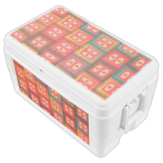Colorful tiles cooler