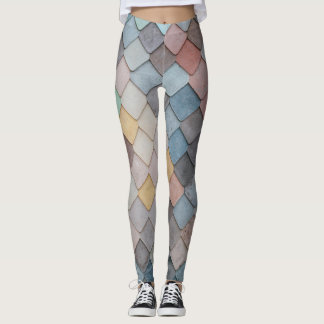 Colorful tiles leggings
