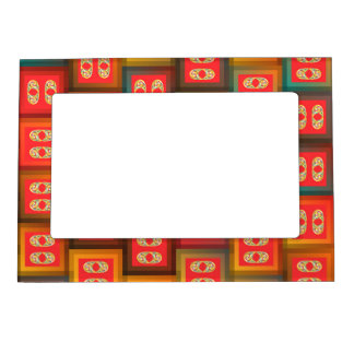 Colorful tiles magnetic frame