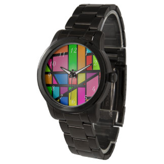 Colorful Tiles pattern Wristwatches