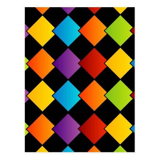 Colorful tiles postcards