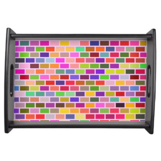 Colorful tiles serving tray
