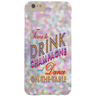 Colorful Time to Drink Champagne iPhone 6 Plus Barely There iPhone 6 Plus Case