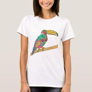 Colorful Toucan bird tropical teal mauve yellow T-Shirt