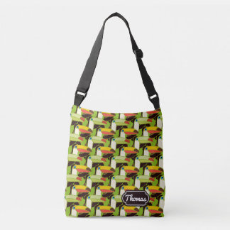 Colorful Toucans | Add Your Name Crossbody Bag