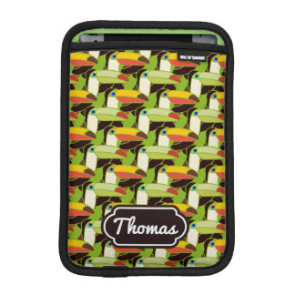 Colorful Toucans | Add Your Name iPad Mini Sleeves