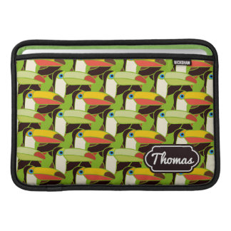 Colorful Toucans | Add Your Name MacBook Air Sleeve
