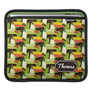 Colorful Toucans | Add Your Name Sleeve For iPads