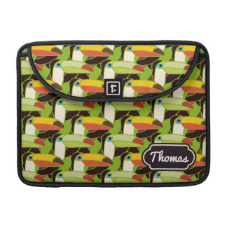 Colorful Toucans | Add Your Name Sleeves For MacBooks