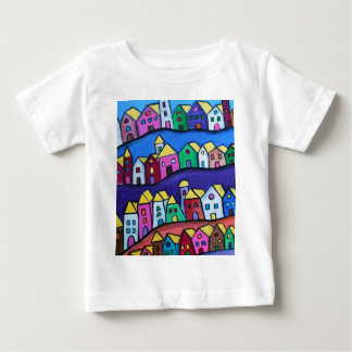 COLORFUL TOWN by Prisarts Baby T-Shirt