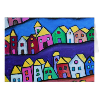 COLORFUL TOWN by Prisarts Card