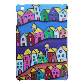 COLORFUL TOWN by Prisarts Case For The iPad Mini