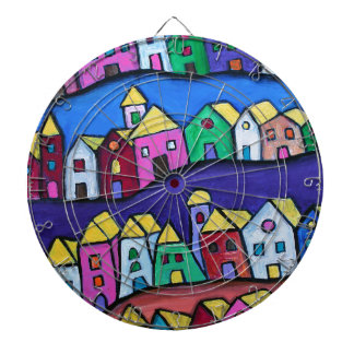COLORFUL TOWN by Prisarts Dartboard