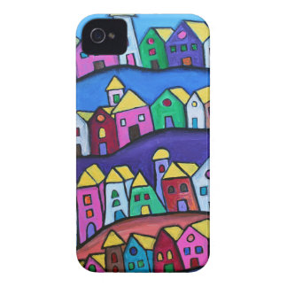 COLORFUL TOWN by Prisarts iPhone 4 Case-Mate Cases