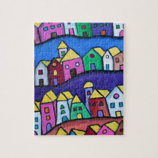 COLORFUL TOWN by Prisarts Jigsaw Puzzle