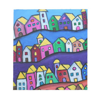 COLORFUL TOWN by Prisarts Notepad