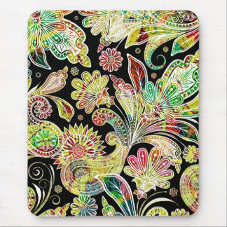 Colorful Traditional Paisley Pattern Mouse Pad