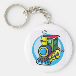 Colorful Train Key Ring