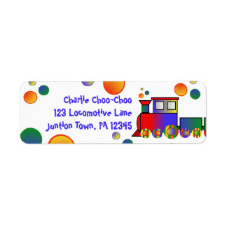 Colorful Train Personalized Return Address Label