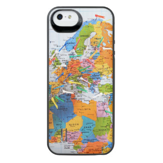 Colorful Travel Map iPhone SE/5/5s Battery Case
