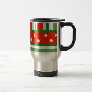 Colorful Travel Mug striped and polka dotted