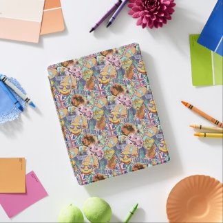 Colorful Travel Sticker Pattern iPad Cover