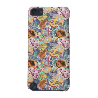 Colorful Travel Sticker Pattern iPod Touch 5G Cover