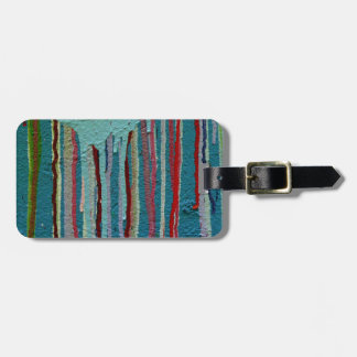 Colorful travel tag. luggage tag