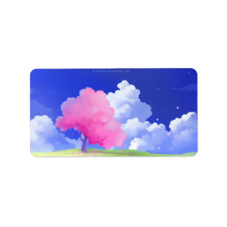 Colorful Tree Address Label