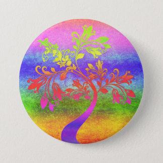 Colorful Tree Art 7.5 Cm Round Badge