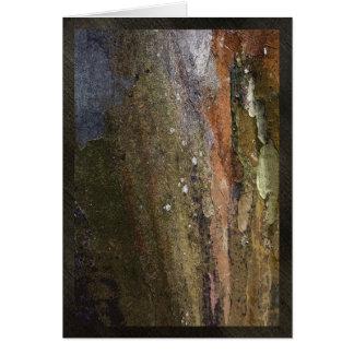 Colorful tree bark card