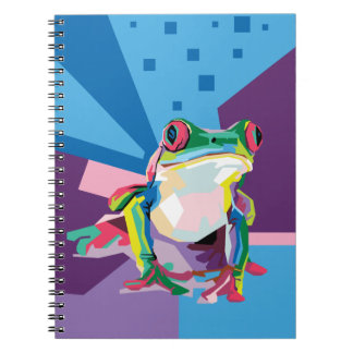 Colorful Tree Frog Portrait Notebook