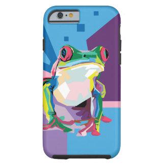 Colorful Tree Frog Portrait Tough iPhone 6 Case