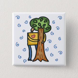 Colorful Tree Hugger 15 Cm Square Badge