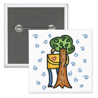Colorful Tree Hugger 15 Cm Square Badge