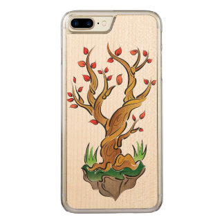 Colorful Tree Illustration Carved iPhone 8 Plus/7 Plus Case