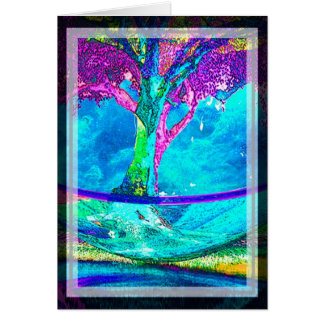 Colorful Tree of Life Artwork by Amelia Carrie in Greeting Card