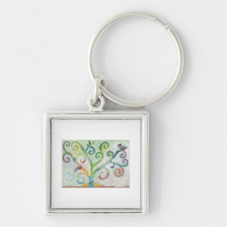 Colorful Tree of Life Key Ring